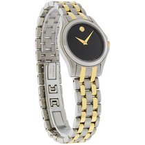 Movado Corporate Executive Ladies Black Museum Two Tone Watch...