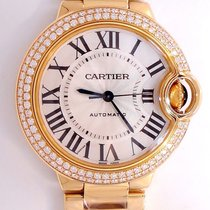 Cartier Ballon Bleu Wjbb0002 18k Y Gold 33mm Factory Diamond...
