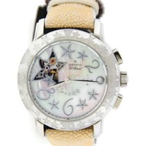 Zenith Star Open Sea Mother Of Pearl Dial Stainless Steel