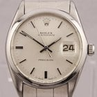 Rolex Oyster Date Precision Manual Wind Stainless Steel Watch...