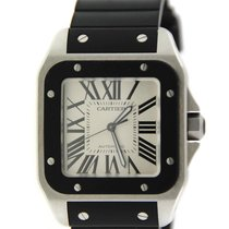 Cartier Santos 100 Rubber Stainless Steel