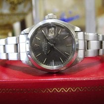 Rolex Oyster Perpetual Date Ref: 6916 Gray Dial Steel Watch