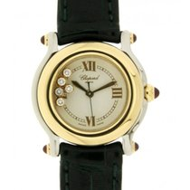 Chopard Happy Sport Yellow Gold, Steel, Leather, 26mm