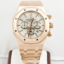 Audemars Piguet Royal Oak Rose Gold 41mm White Dial  Chrono