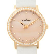 Blancpain Women 18 K Rose Gold With Diamonds Pink Automatic...