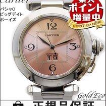 Cartier 【カルティエ】パシャC ビッグデイトボーイズ腕時計 自動巻きオートマ シルバーピンク文字盤 ユニセックスステ...