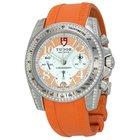 Tudor Chronograph Dial Diamond Orange Rubber Ladies Watch