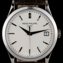 Patek Philippe [New] 38mm Calatrava Opaline White Dial White...