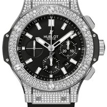 Hublot Big Bang 44 mm Stainless Steel Diamonds Rubber Men`s Watch