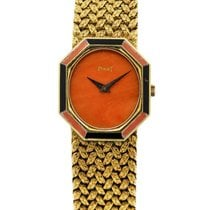 Piaget P341D2 18k  Gold Coral & Onyx  Ladies Watch