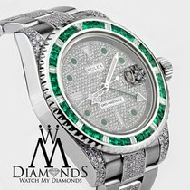 Rolex Men's Rolex Gmt-master Ii 116710 With Green Emerald...