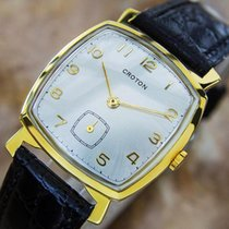Vintage Croton Swiss Made Men's Gold Plated Manual Dress...