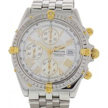 Breitling Crosswind Chronograph B13355 Automatic YG and SS.