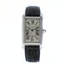 Cartier TANK AMERICAINE Automatic 18K White Gold 'Large...