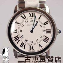 Cartier 【中古】【MT372】 Cartier カルティエ W6701005 ロンドソロ クォーツ メンズ 腕時計...