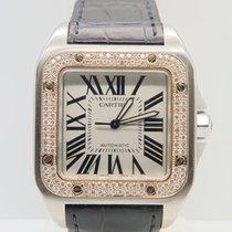 Cartier Santos 100 XL 18k Gold Steel  Diamonds