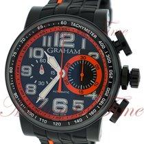 "Graham Silverstone Stowe ""Orange"", Black Carbon Dial,..."