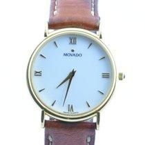 Movado Damen Uhr 34mm Stahl Vergoldet Museum Watch Rar