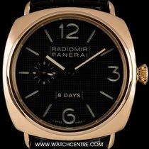 Panerai 18k R/G Black Hobnail Dial 8 Day Power Res Radiomir...