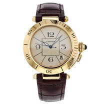 Cartier Pasha 38mm 18k Yellow Gold Automatic Wrist Watch For Men