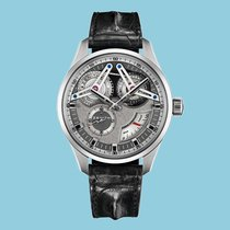Zenith ACADEMY GEORGES FAVRE-JACOT TITANIUM 46 MM Index grau...
