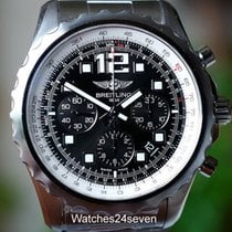 Breitling Chronospace Auto Black Dial Steel 46mm