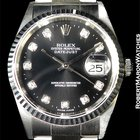 Rolex Ref. 16234 In Stainless With Factory Original Rare Blk...