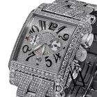 Franck Muller Mens Diamond  Luxury Watch Pave Conquistador...