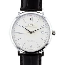 IWC Schaffhausen IW356501 Portofino Automatic Silver Plated...