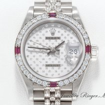 Rolex DATEJUST WEISSGOLD 750 DIAMANTEN BRILLANTEN Lady Date Just