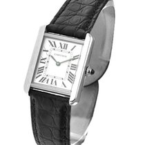 Cartier W5200005 Tank Solo - Small Size - Steel on Strap with...