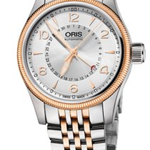 Oris Big Crown Pointer Date, Silver Dial, Steel\Gold