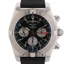 Breitling Chronomat 44 GMT Stahl Kautschuk Automatik Chronogra...