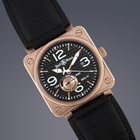 Bell & Ross Gents BR01-97 18ct Rose gold automatic on strap