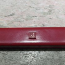Omega vintage watch box leather red big size