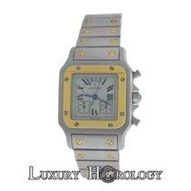 Cartier Mint Unisex Santos 2425 Chronoflex Date 18K Gold &...