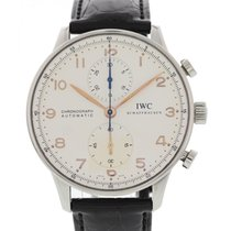 IWC Men's IWC Portuguese Chronograph Stainless Steel IW371445