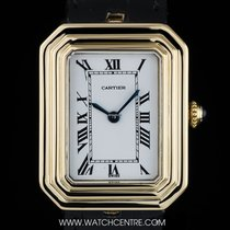 Cartier 18k Yellow Gold Rectangle Cristallor Mid-Size Wristwatch