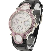 DeLaneau White Gold Chronograph with Pink Sapphire Case