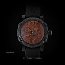 Romain Jerome Moon Dust DNA Black Mood Ochre Dial (Red) PVD...