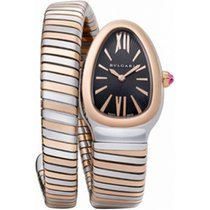 Bulgari Serpenti Tubogas 35mm Stainless Steel & Rose Gold