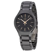 雷达 (Rado) Rado Ladies R27059162 Black Dial Black Ceramic Watch