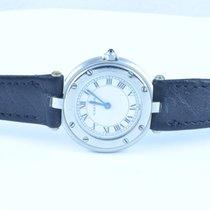 Cartier Santos Ronde Quartz Damen Uhr 25mm Stahl/stahl Guter...