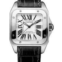 Cartier Santos 100 Stainless Steel Medium Watch W20106X8