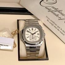 Patek Philippe Nautilus 5980A Chronograph White Dial Box &...