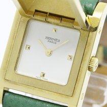 Hermès Medor Gold Plated Leather Quartz Ladies Watch - (bf088501)