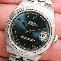 Rolex Datejust 178274 Midsize Steel & White Gold Jubilee...