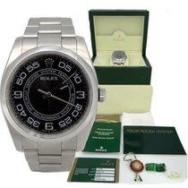 Rolex Mens Rolex Oyster Perpetual Black Concentric Arabic...