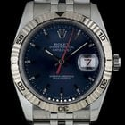 Rolex S/Steel O/P Blue Dial Turn-O-Graph Datejust Gents...