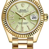 Rolex Lady Datejust 28mm Yellow Gold 279178 Linden Green 44...